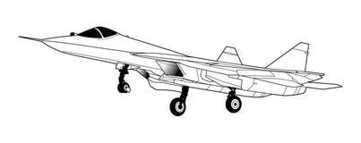 Avions russes modernes de chasseur à réaction Photo libre de droits