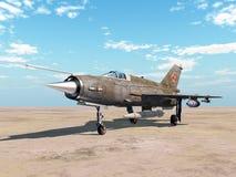 Avions soviétiques de chasseur à réaction Photos libres de droits