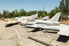 Avions soviétiques de combat photographie stock