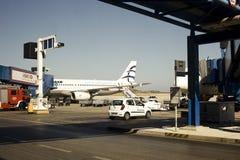 Avions stationnés à l'aéroport Photos libres de droits