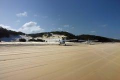 Avions sur la plage Images libres de droits