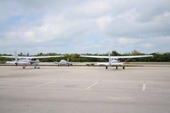 Avions sur la zone Photographie stock