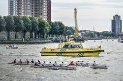 Aviron sur la rivière photos stock