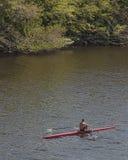 Aviron sur la rivière Photo libre de droits