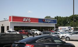 Avis και προϋπολογισμός Car Rental Company στοκ εικόνες με δικαίωμα ελεύθερης χρήσης