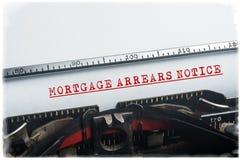 Avis d'arriérés d'hypothèque Photo stock