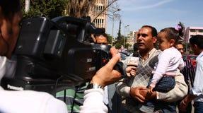Avis d'Egyptiens sur des réformes constitutionnelles Photographie stock libre de droits