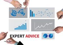 Avis d'expert Image stock
