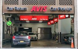 Avis-Leihwagenniederlassung Lizenzfreies Stockfoto