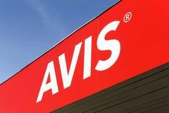 Avis logo on a wall Royalty Free Stock Image