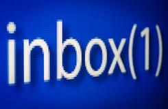 Avis neuf de courrier sur l'écran pixelated Photos libres de droits
