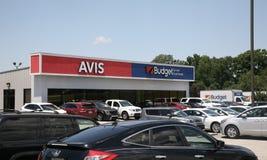 Avis y Budget Car Rental Company Imágenes de archivo libres de regalías