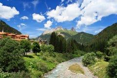 Avisio stream, val di Fassa, Italy Royalty Free Stock Image