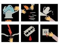 Aviso ilustração stock