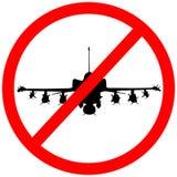 Aviso circular do ícone do sinal de estrada do avião militar F35 ilustração stock