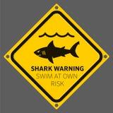 Aviso da área do tubarão ilustração do vetor