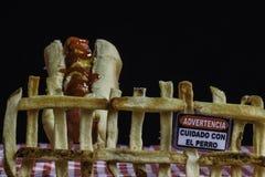 Aviso da comida lixo Imagem de Stock