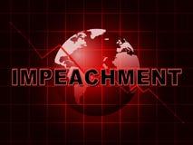Aviso da destituição para acusar o presidente corrompido Or Politician ilustração stock