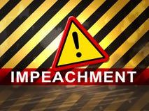 Aviso da destituição para remover o presidente corrompido Or Politician ilustração royalty free
