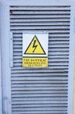 Aviso da eletricidade Fotografia de Stock