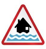 Aviso da inundação ilustração stock
