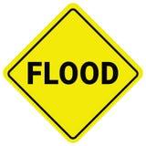 Aviso da inundação do sinal de aviso Relógio de inundação repentina ilustração stock