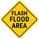 Aviso da inundação do sinal de aviso Relógio de inundação repentina ilustração do vetor