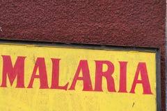 Aviso da malária foto de stock royalty free