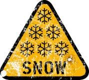 Aviso da neve ilustração royalty free