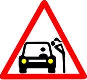 Aviso da prostituição Sinal de estrada circular vermelho da ilustração da prostituição ilustração royalty free