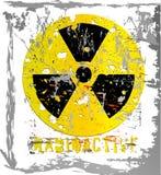 Aviso da radiação ilustração stock