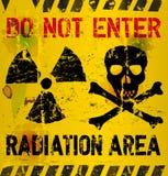 Aviso da radiação ilustração royalty free
