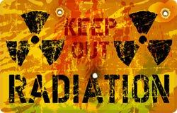 Aviso da radiação, ilustração do vetor
