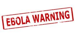 Aviso de Ebola ilustração stock