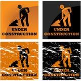 Aviso de la construcción ilustración del vector