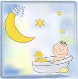 Aviso de la ducha de bebé Foto de archivo libre de regalías
