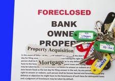 Aviso de la ejecución de una hipoteca Fotografía de archivo