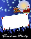 Aviso de la fiesta de Navidad Imagenes de archivo