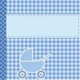 Aviso de la llegada del bebé para el muchacho ilustración del vector