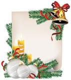 Aviso de la Navidad Fotos de archivo libres de regalías
