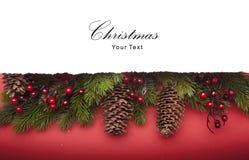 Aviso de la Navidad del arte Fotografía de archivo