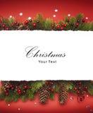 Aviso de la Navidad del arte Imágenes de archivo libres de regalías