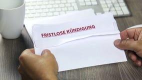 Aviso de la terminación, fristlose Kuendigung metrajes