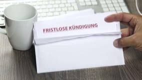 Aviso de la terminación, fristlose Kuendigung almacen de metraje de vídeo