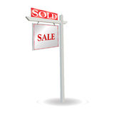 Aviso de la venta Imagen de archivo libre de regalías