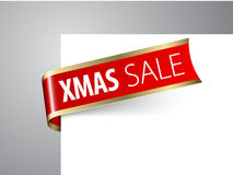 Aviso de la venta de la Navidad Imagen de archivo
