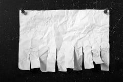 Aviso de papel Fotos de archivo
