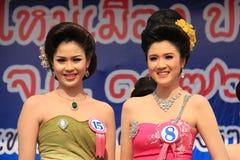 Aviso 2014 de Srta. Songkran Imagenes de archivo
