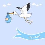 Aviso del bebé stock de ilustración