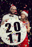 Aviso del partido del ` s del Año Nuevo Imagen de archivo
